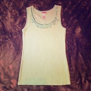 Justice sequin tank top size 10.